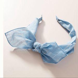 ANTHROPOLOGIE Grace Shimmer bow headband